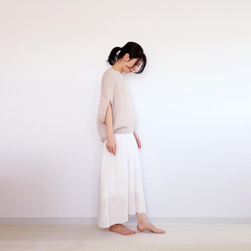 ◆即納◆Mensa[メンサ] シルクモヘア・トップス / ベージュ系3 / Mサイズ