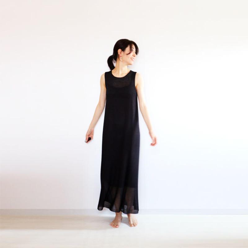 ◆予約◆Syrma[シュルマ] マキシ・ワンピース / ブラック