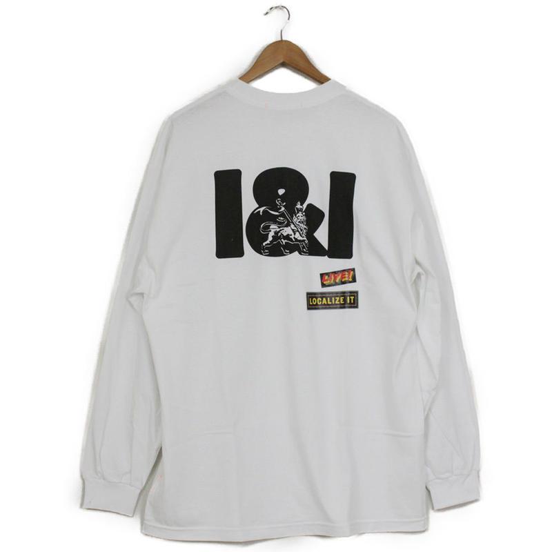 THE DAWN B LOCALIZE IT I&I LION OF JAH 長袖Tシャツ ホワイト