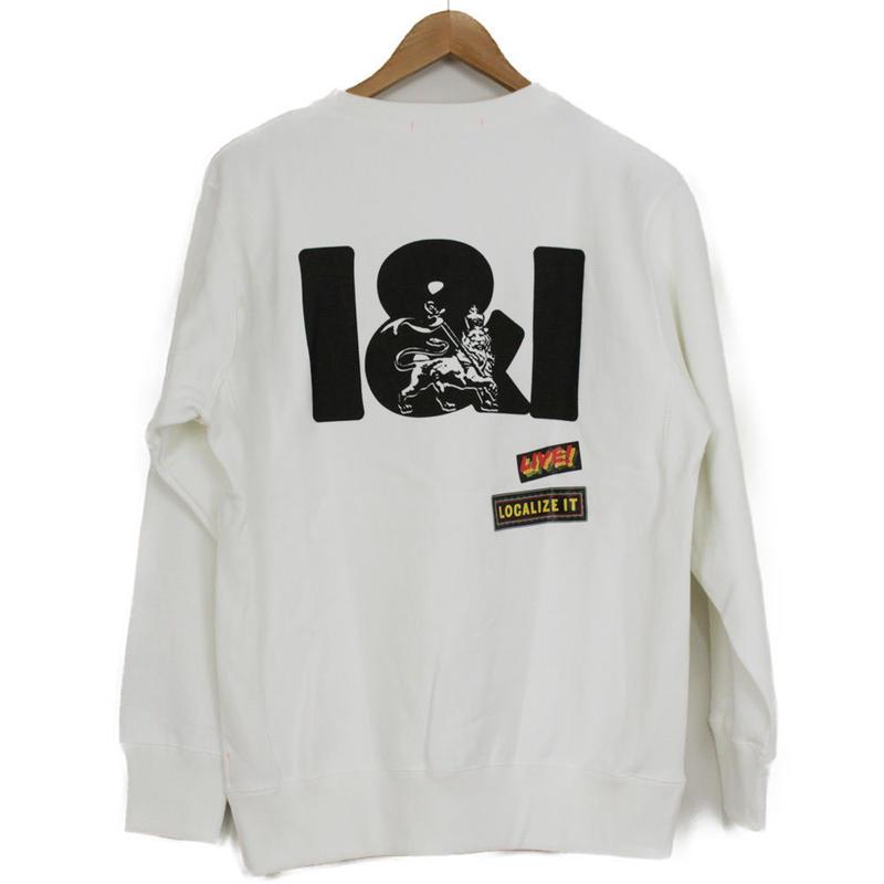 THE DAWN B LOCALIZE IT I&I LION OF JAH スウェットシャツ ホワイト
