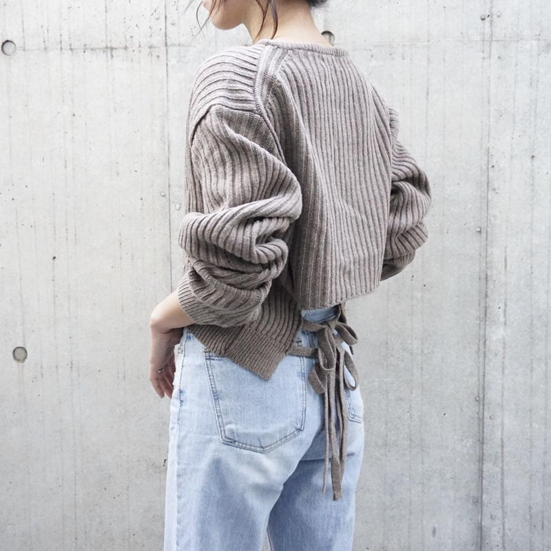 BACK RIBBON RIB KNIT