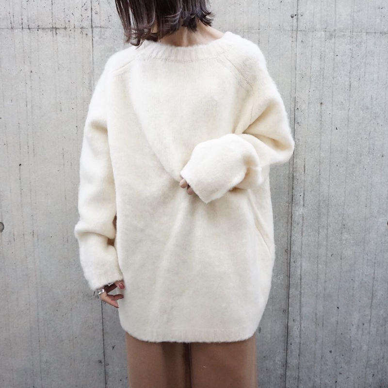 BRUSH OVER LONG KNIT