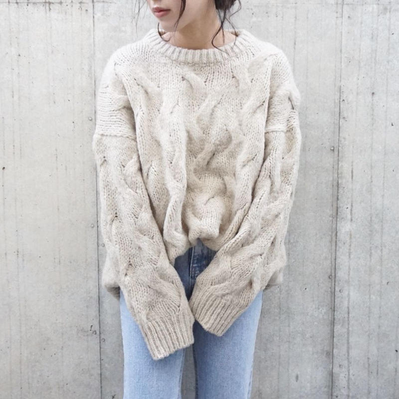 ARAN CABLE SOFT KNIT