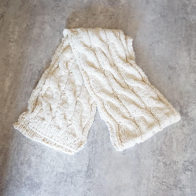 cable knit muffler