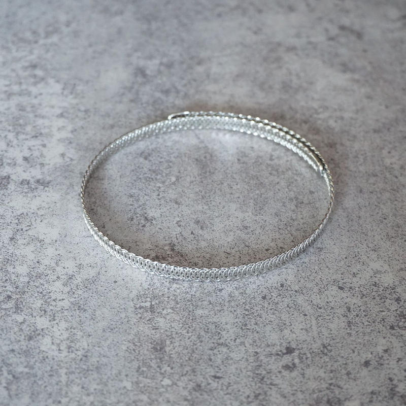 silver tatoo choker