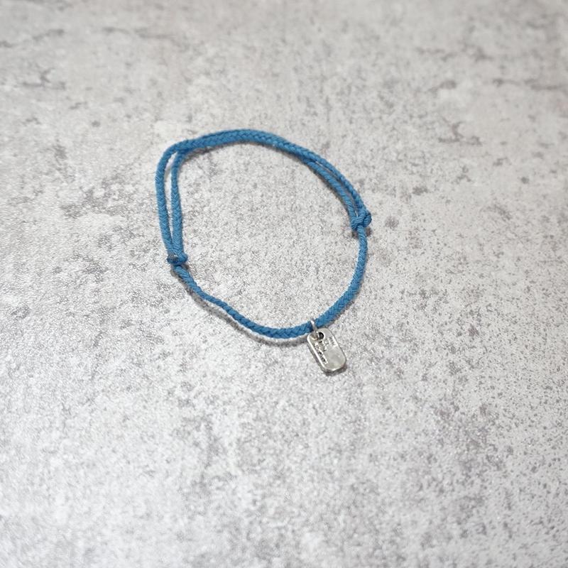 silver motif anklet