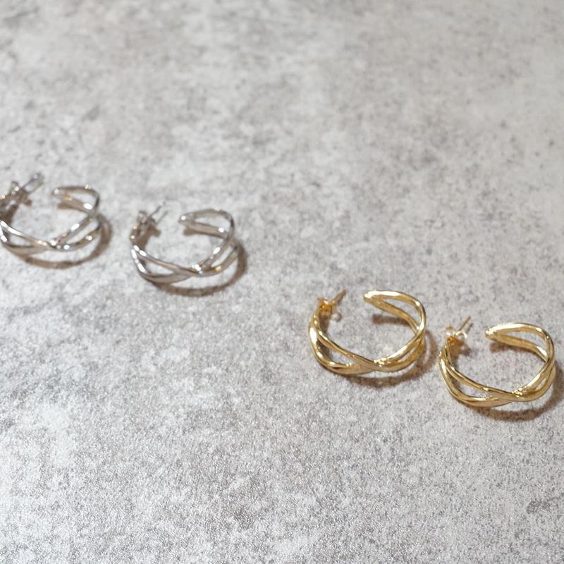half cross design pierce