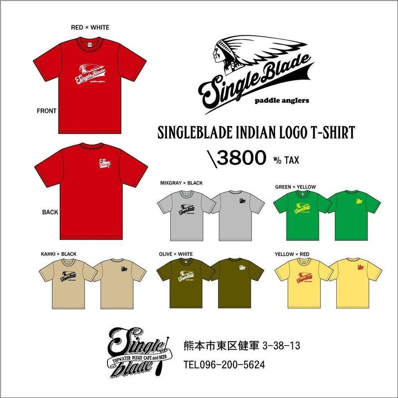 ご予約商品:シングルブレード・オリジナルインディアンデザインTシャツ