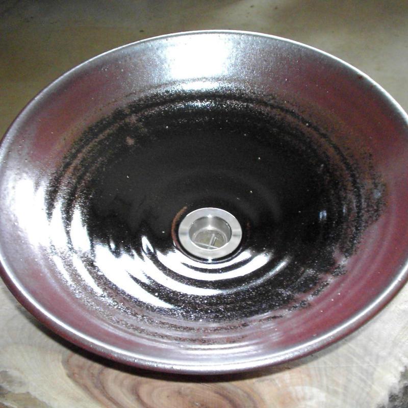 黒天目(大)手洗い鉢