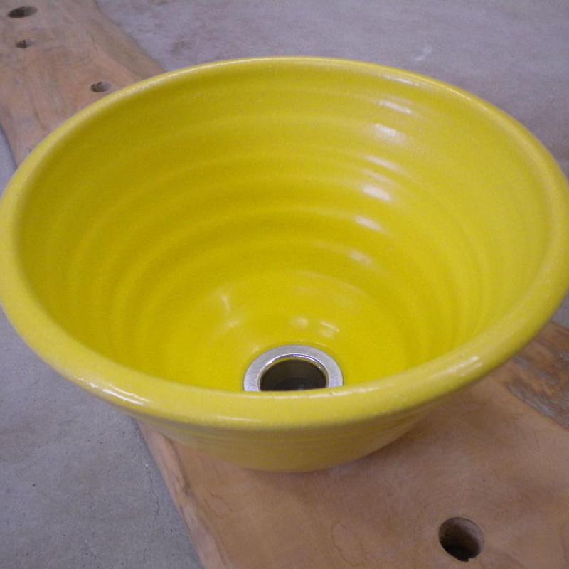 レモンイエロー(小)手洗い鉢