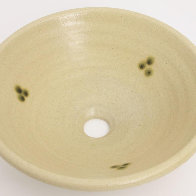 黄瀬戸点紋(中)手洗い鉢