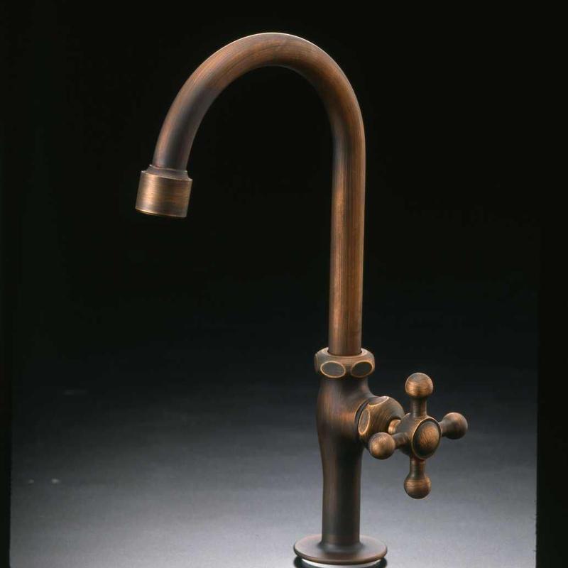 ブロンズメッキ立水栓