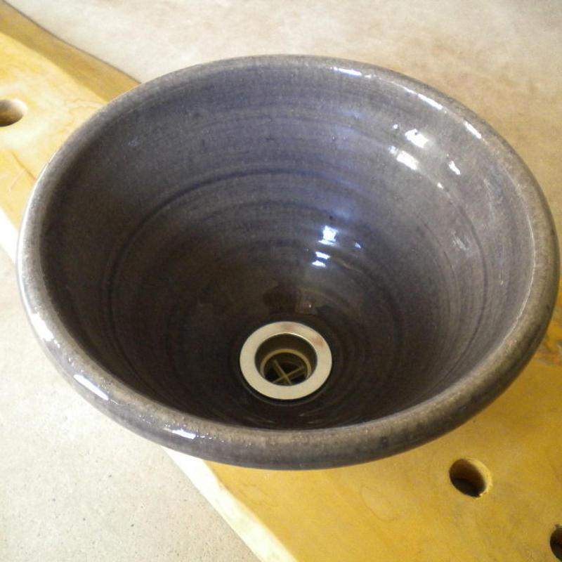 紫ガラス(小) 手洗い鉢 24㎝