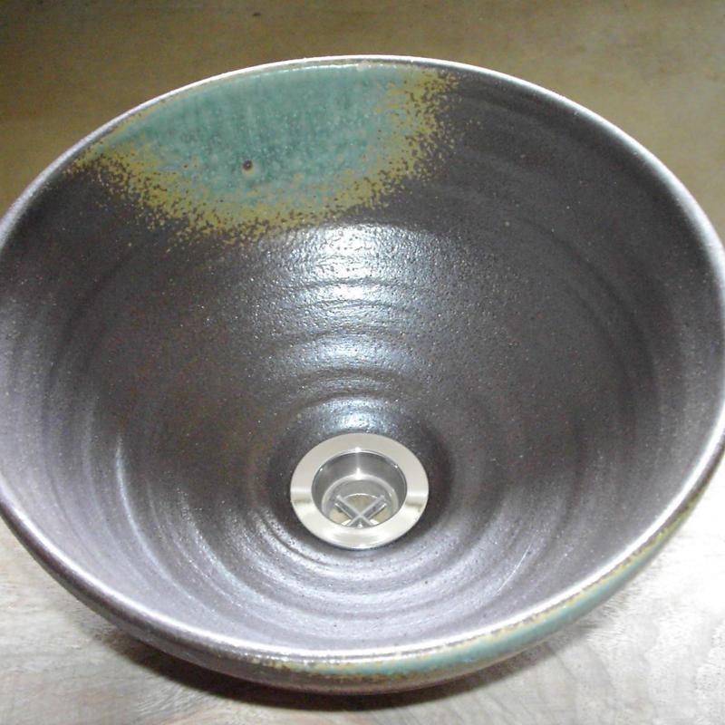 灰釉(小)手洗い鉢