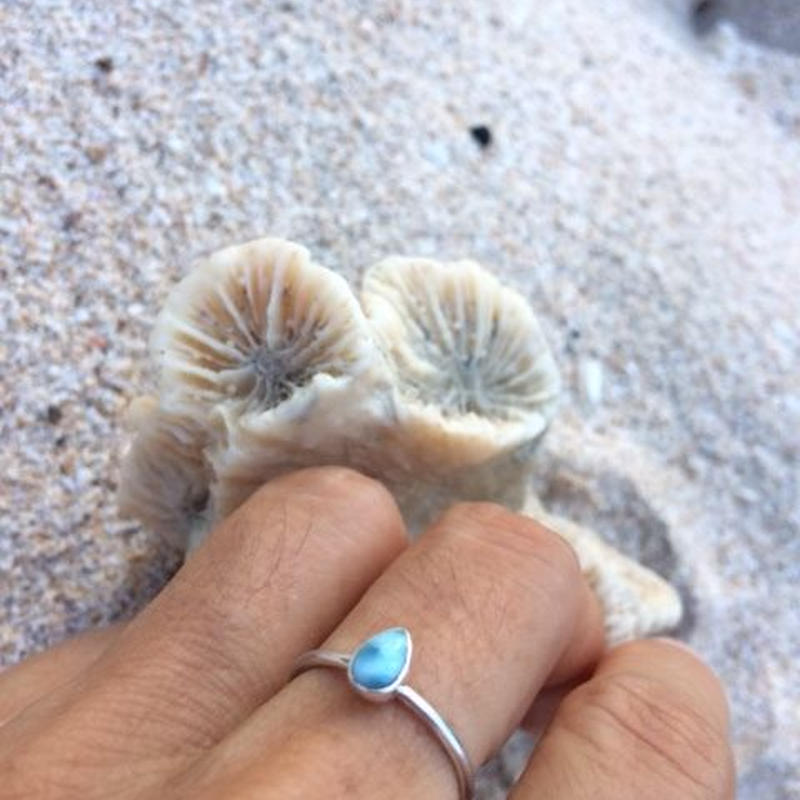 Mini Larimar Ring