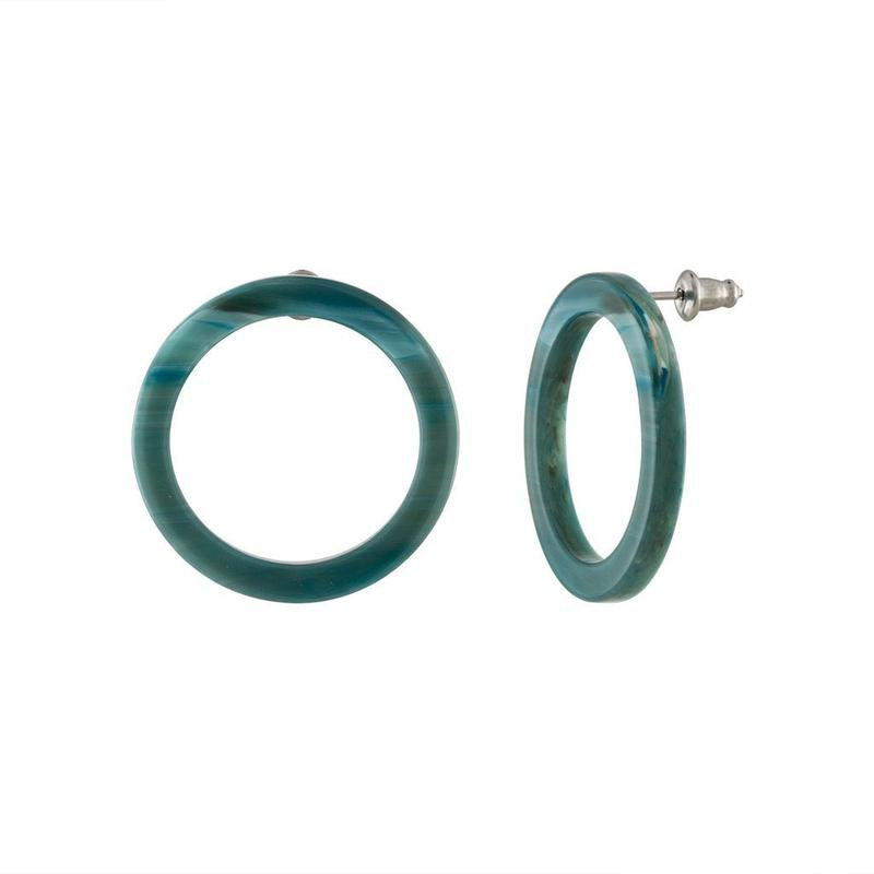 Mini Isla Hoops in Jadeite Green