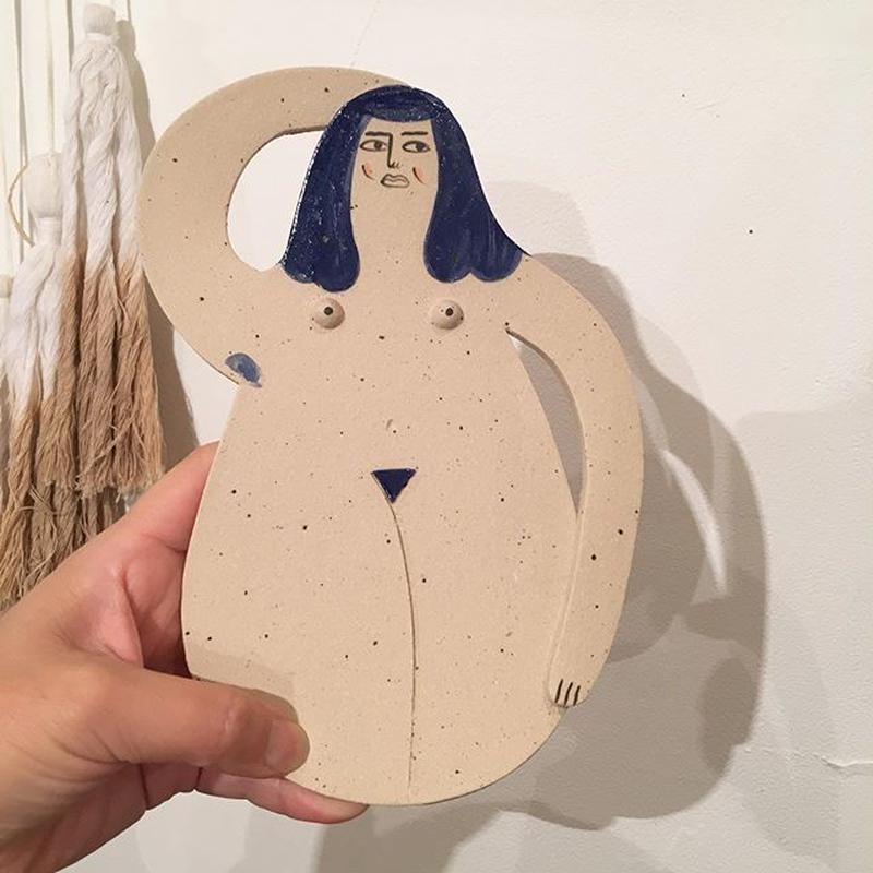 Laura Bird Nude Lady Plate in Stoneware