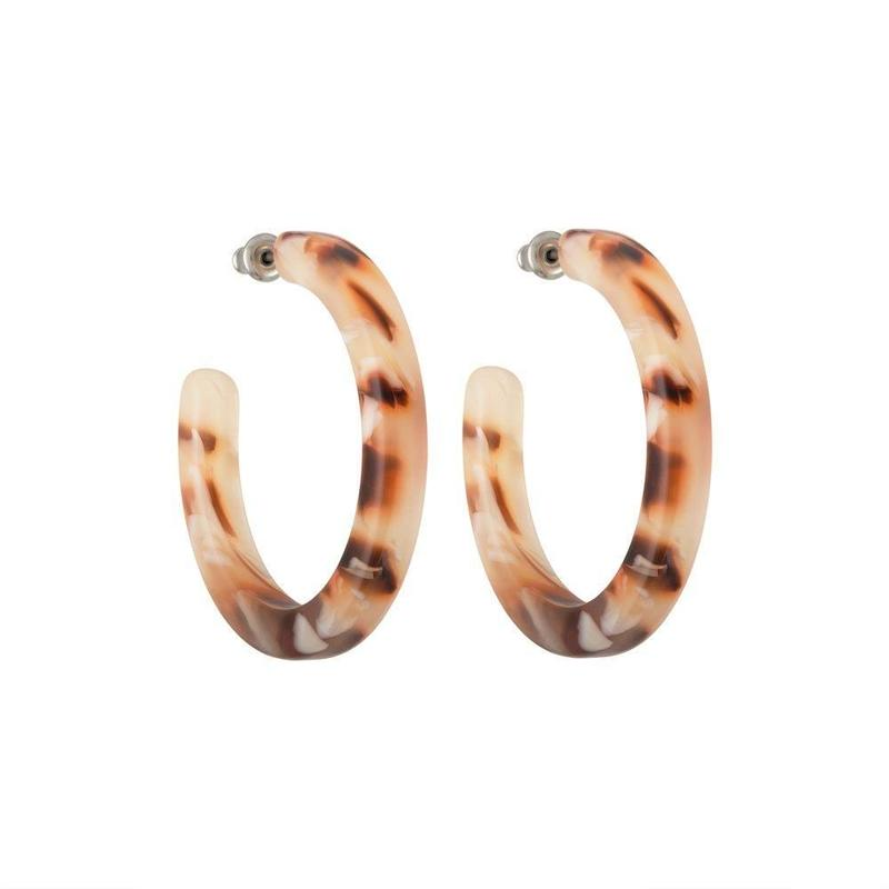 Midi Hoops in Blush Tortoise