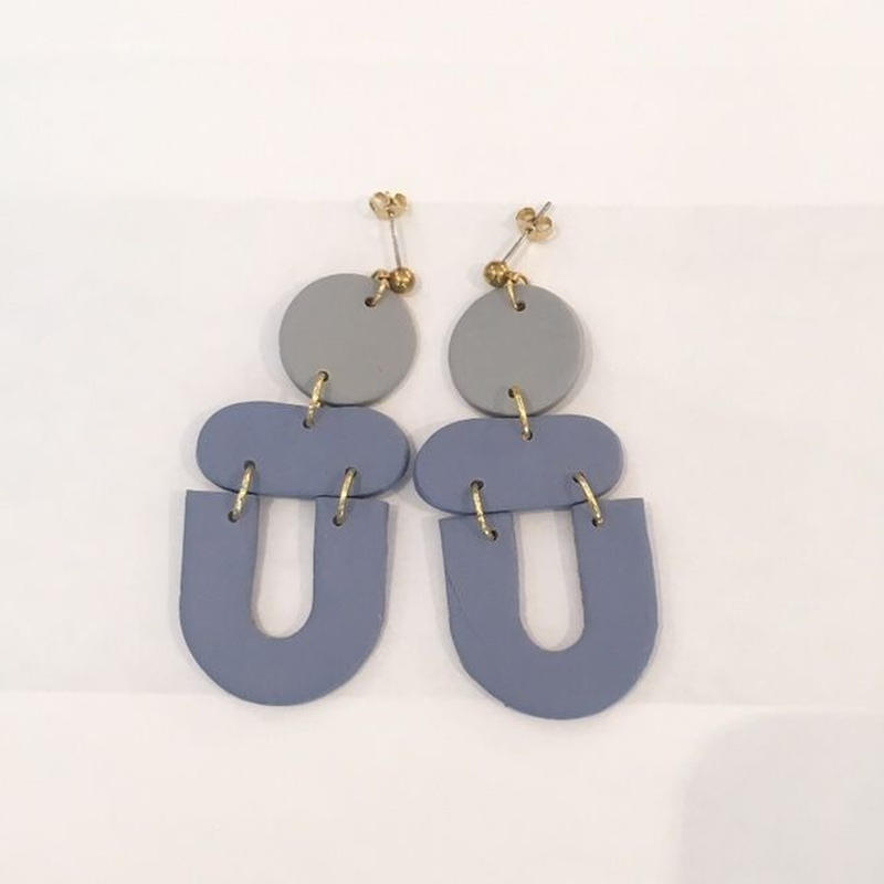 Blue + Gray Clem Earrings