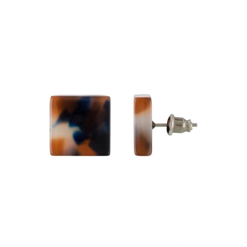 Block Earrings in Fortune