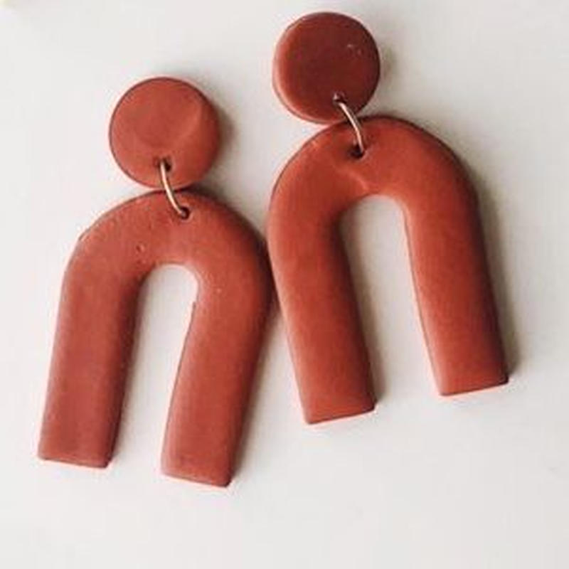 Rust Arc Earrings