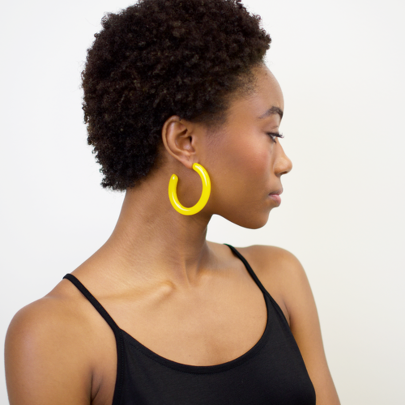 Form Hoops in Yellow