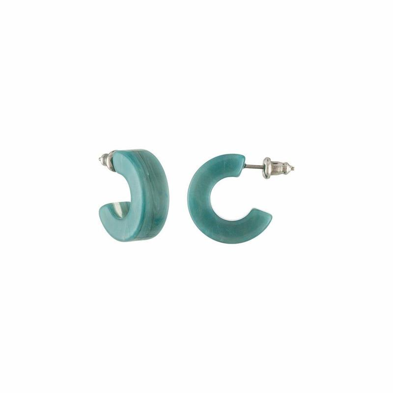 Muse Hoops in Jadeite