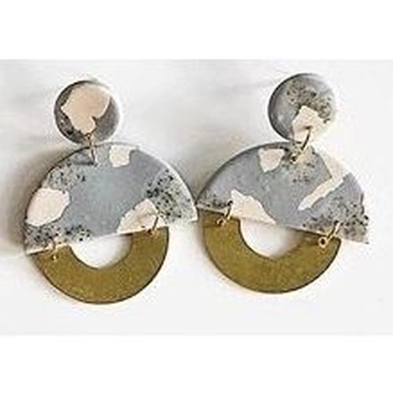 Fog Terrazzo Clemence Earrings
