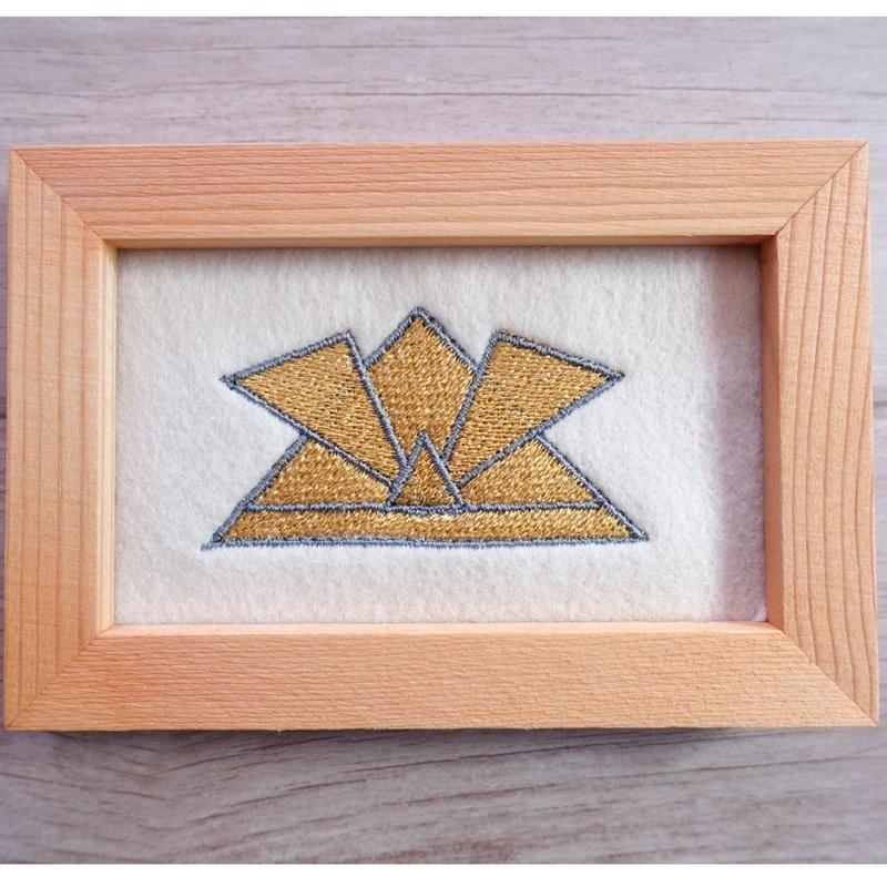 刺繍兜飾り(ゴールド)