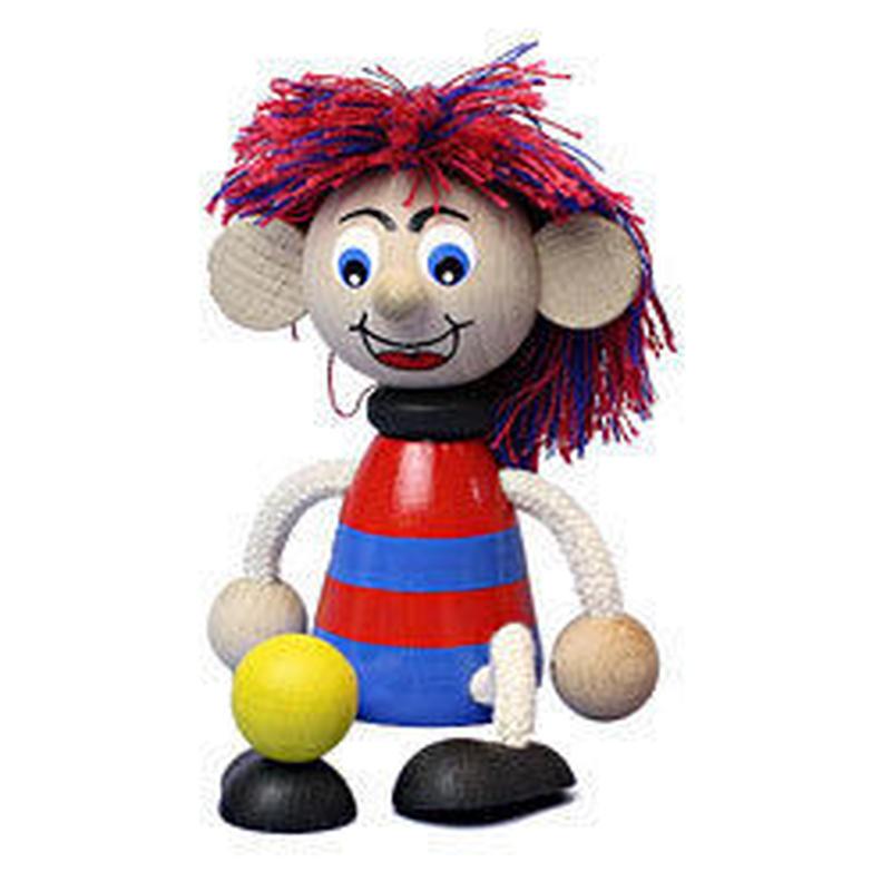 チェコおすわり人形 サッカー少年レッドブルー LUMAZ+ブランコ