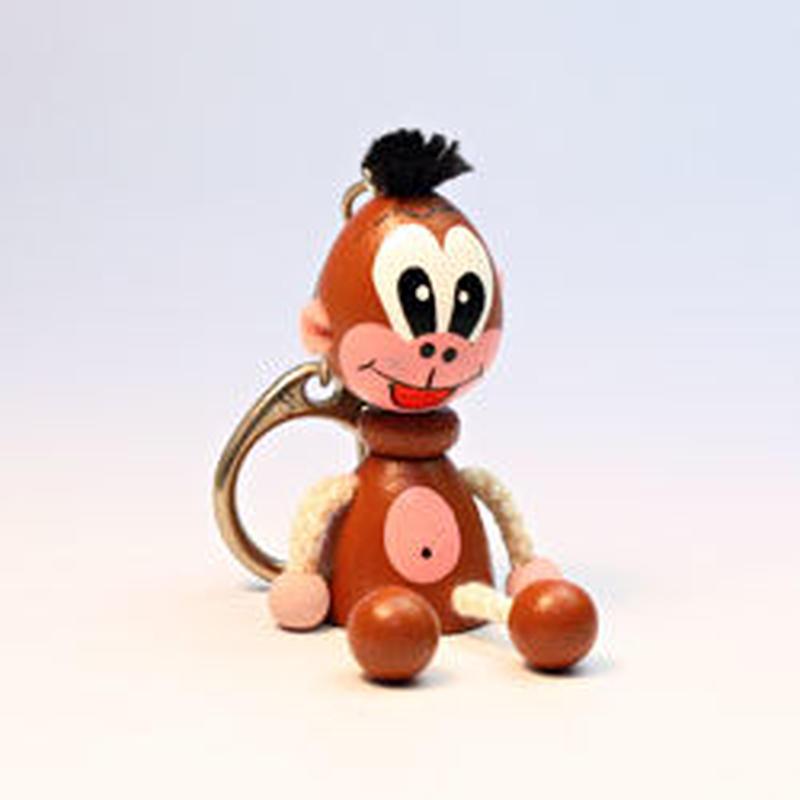 キーホルダー    ミニ人形サル