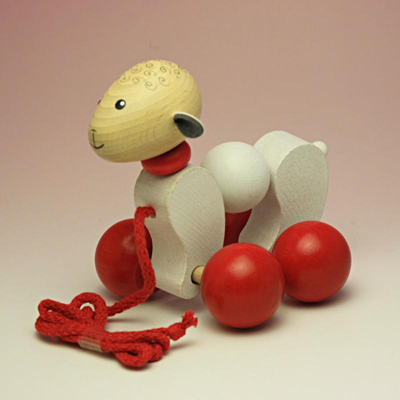 プルトイ 羊/Pull-along animal