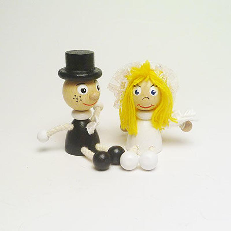 ミニ人形マグネット 花嫁と花婿