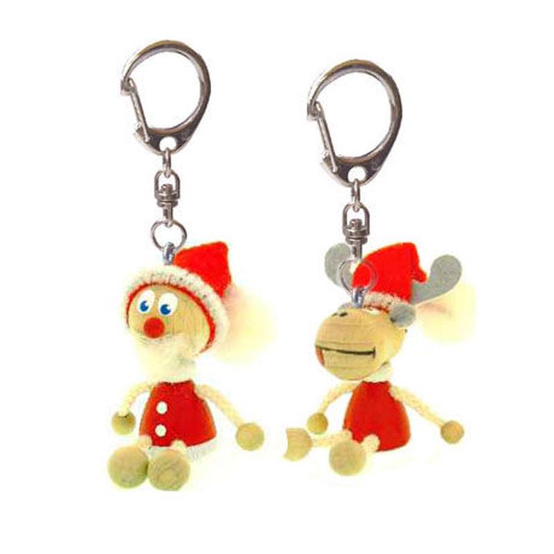 キーホルダー人形  クリスマスエルク&サンタ