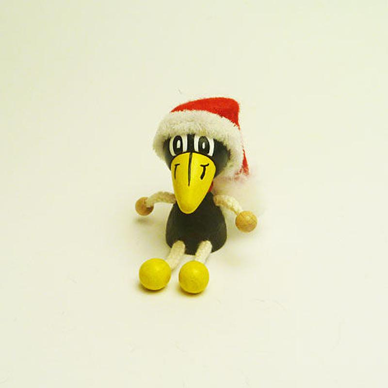 ミニ人形マグネット クリスマスカラス