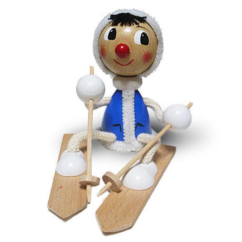 チェコおすわり人形 エスキモーonスキー ABAfactory