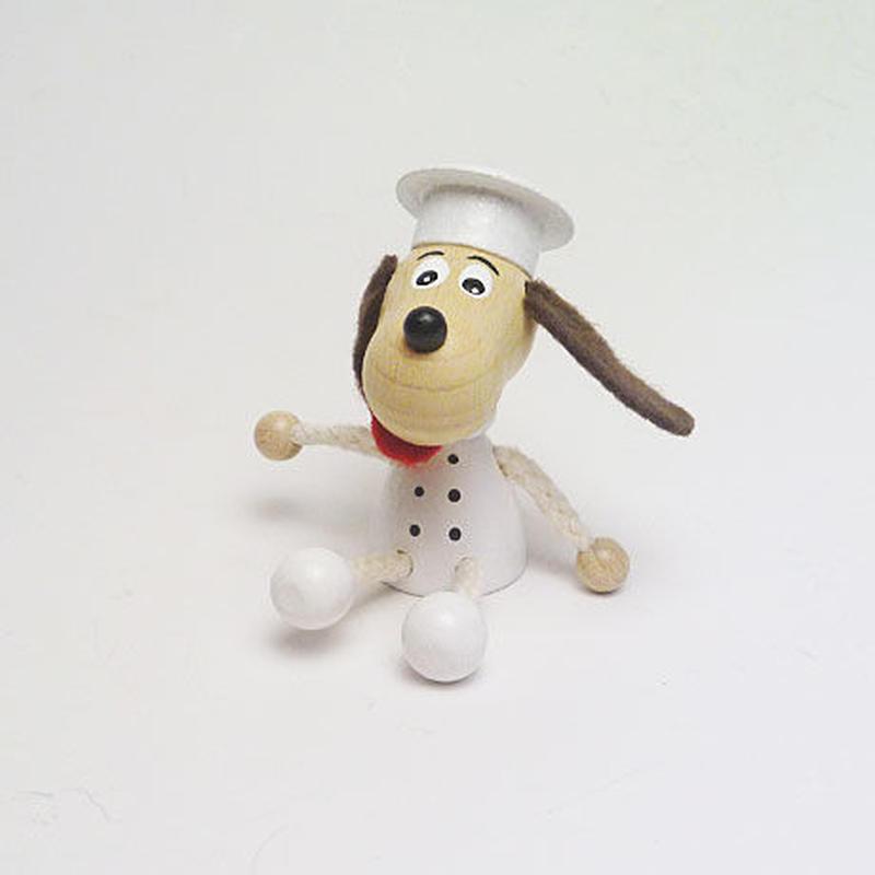 ミニ人形マグネット 犬のコックさん