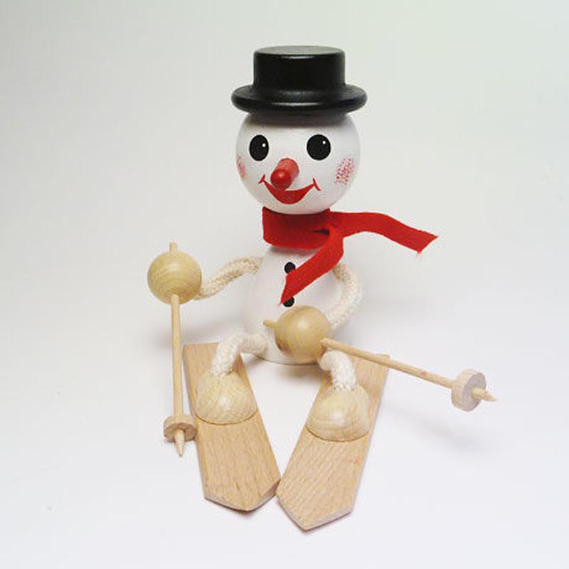 チェコおすわり人形 スノーマンonスキー  ABAfactory