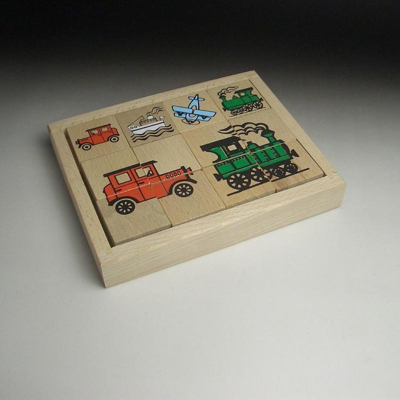 MIK  木のパズル 乗り物 4種