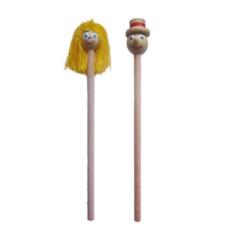 チェコえんぴつ人形 ボーイ&ガール2本セット ABAfactory