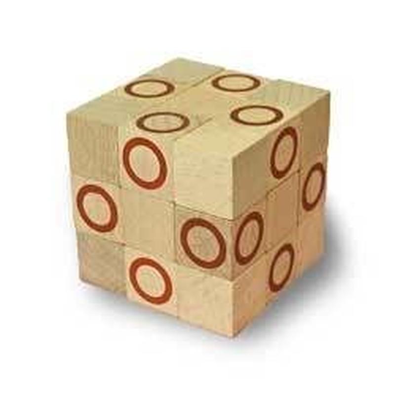 木製キューブ型パズル【コブラBIG/ブラウン】