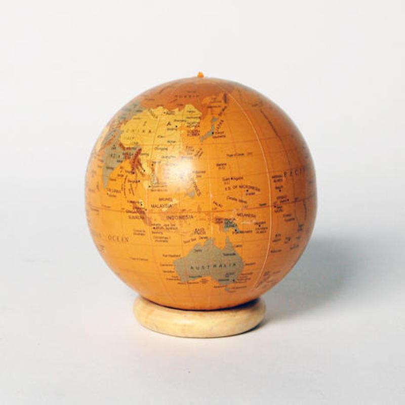 ペーパー地球儀(アンティークブラウン)