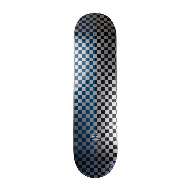 COLOR SKATEBOARD Checkered BL/BK