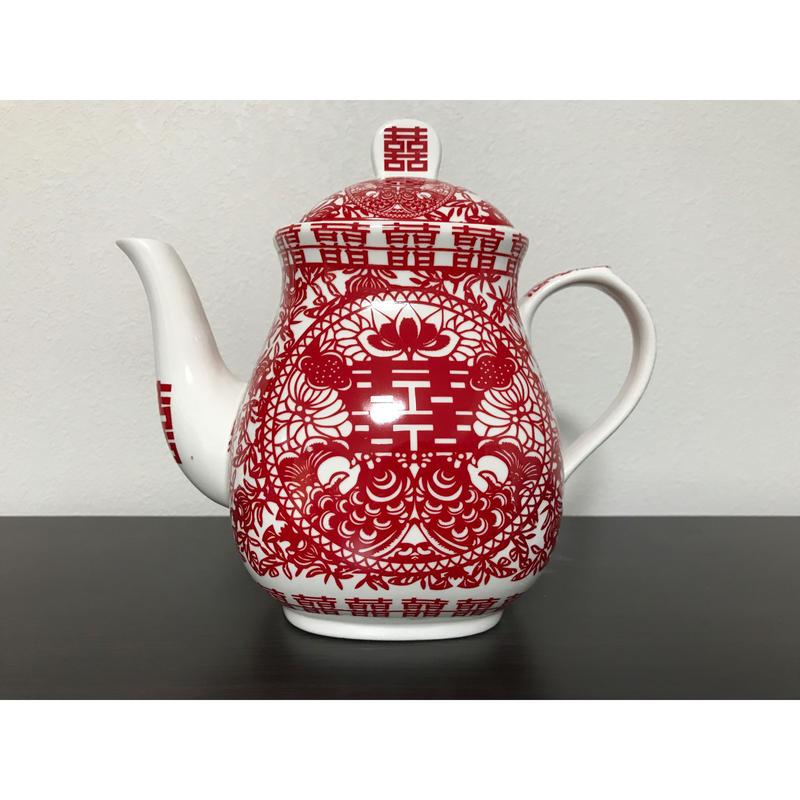 【香港☆囍】☆Renewal☆<バラ売り>茶器セットのティーポット1