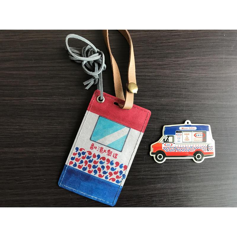 ☆Handmade☆【香港・雪糕車】 カードホルダー・パスケース /  手書きがさらに可愛いです♥