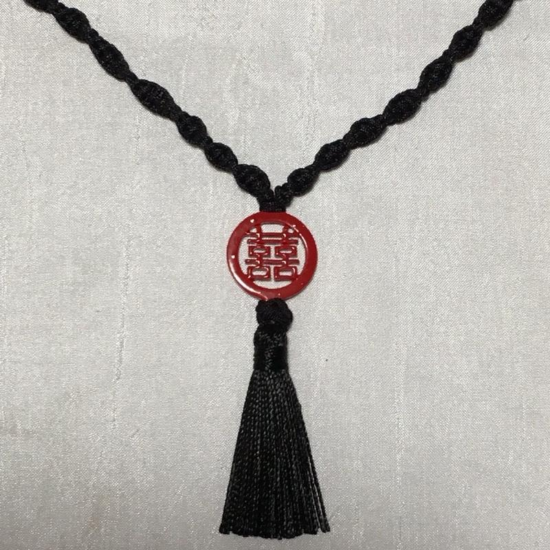 【R.ChineseGallery☆囍】チャイナタッセル&中国結び☆ Double Happinessネックレス