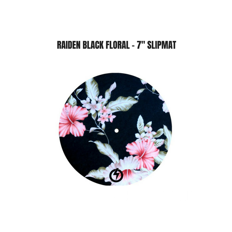 "Raiden BLACK FLORAL - 7"" SLIPMAT"