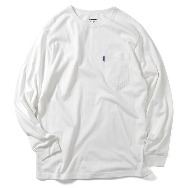 【LAFAYETTE】SOLID POCKET L/S TEE