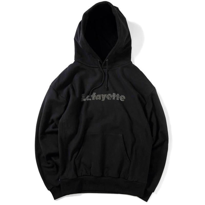 【LAFAYETTE】RHINESTONE LOGO US COTTON HOODED SWEATSHIRT
