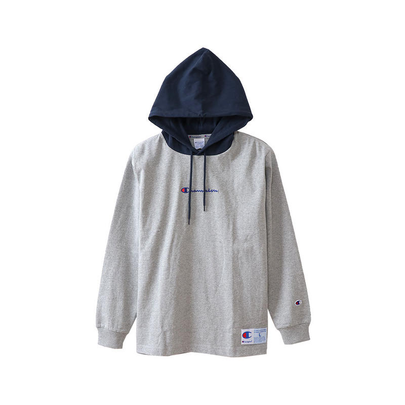 【CHAMPION】LONG SLEEVE HOOD TEE